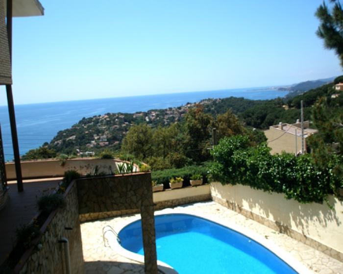 Villa / house Vista mar to rent in Lloret de Mar - Font de Sant Llorenç