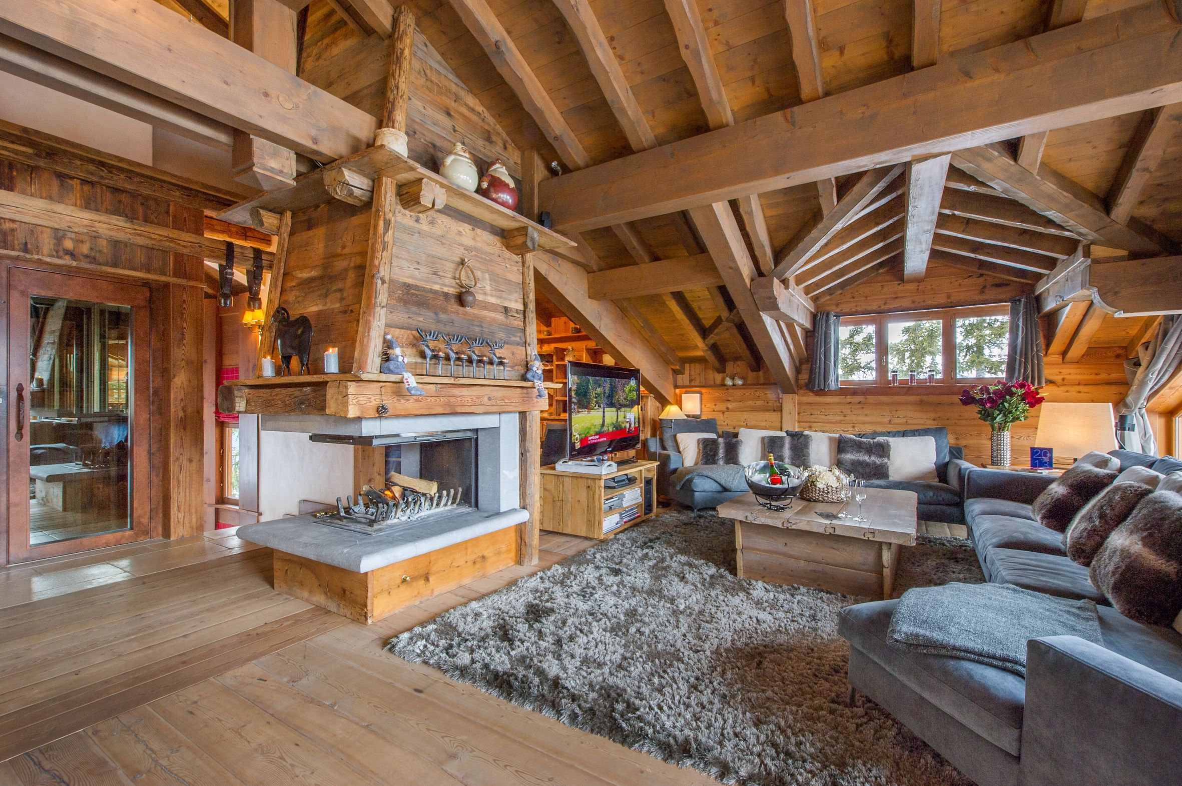 Location chalet courchevel 1850 12 personnes monic1204 - Interieur chalet montagne ...