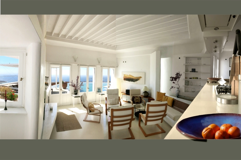 Villa / house panoramique paros to rent in parikia