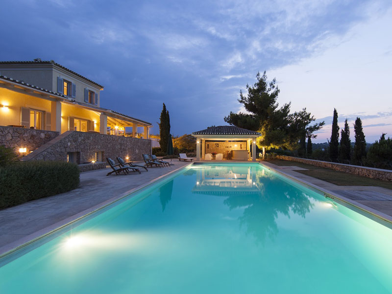 Location villa porto heli 10 personnes phel1005 for Villa piscine privee