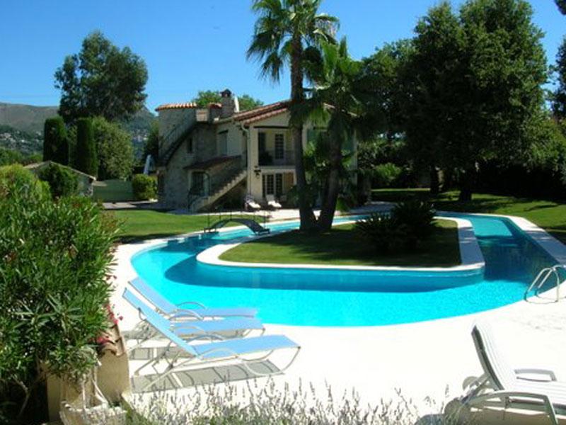 Location villa vence 8 personnes v802 - Maison a louer vacances avec piscine ...