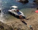 Villa / maison pied dans l'eau avec bateau