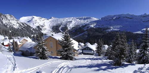 Chalet le grand bleu-sauna to rent in flaine