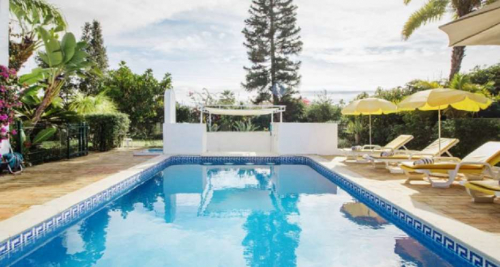 Villa in Carvoeiro, Sicht : Garten