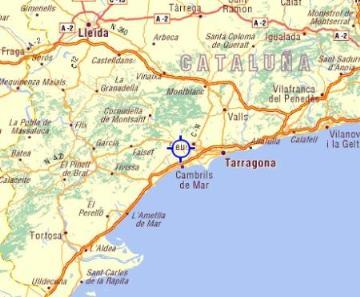 Map Of Spain Reus.Reus Villas Holidays Villas In Reus Catalonia Spain